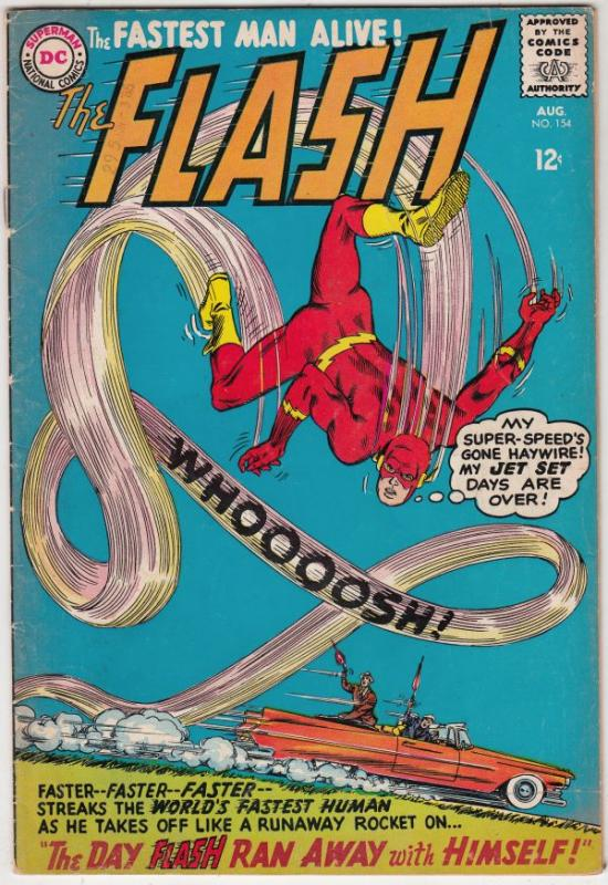 Flash, The #154 (Aug-65) VG+ Affordable-Grade Flash