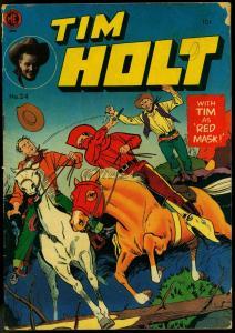 Tim Holt #24 1951- Ghost Rider- Red Mask- ME Western Golden Age VG-