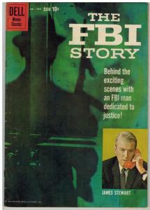 FBI STORY FC 1069 VG-F Jan.-Mar. 1960 James Stewart