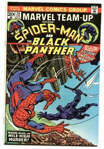 Marvel Team-Up #20 1974-SPIDER-MAN / BLACK PANTHER comic book VF