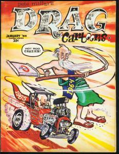DRAG CARTOONS #11--BIG DADDY ED ROTH-DRAG RACING-TOTH FN