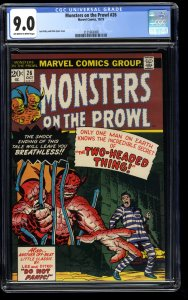Monsters on the Prowl #26 CGC VF/NM 9.0 Off White to White