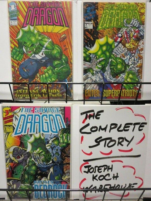 SAVAGE DRAGON (1992) 1-3 ERIC LARSON OPUS!!!!