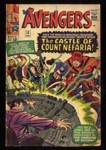 Avengers #13 VG- 3.5 1st Count Nefaria!