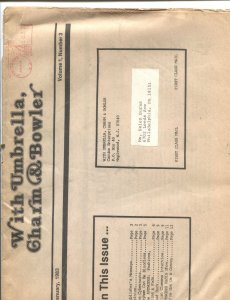 WITH UMBRELLA, CHARM & BOWLER-#3--1983--AVENGERS TV SERIES FANZINE-DIANA RIGG
