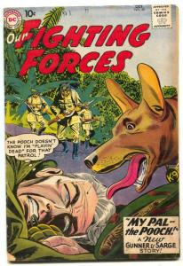 Our Fighting Forces #50 1959-2nd POOCH-GUNNER & SARGE- vg