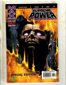 Lot of 9 Supreme Power Max Comic Books #1 1 2 3 4 5 6 7 8 HY7