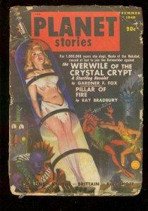 PLANET STORIES PULP-SUM 1948-GOOD GIRL ART COVER-SCI FI FR/G