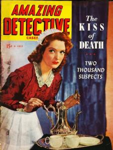 AMAZING DETECTIVE CASES 1944 JULY-PULP VG