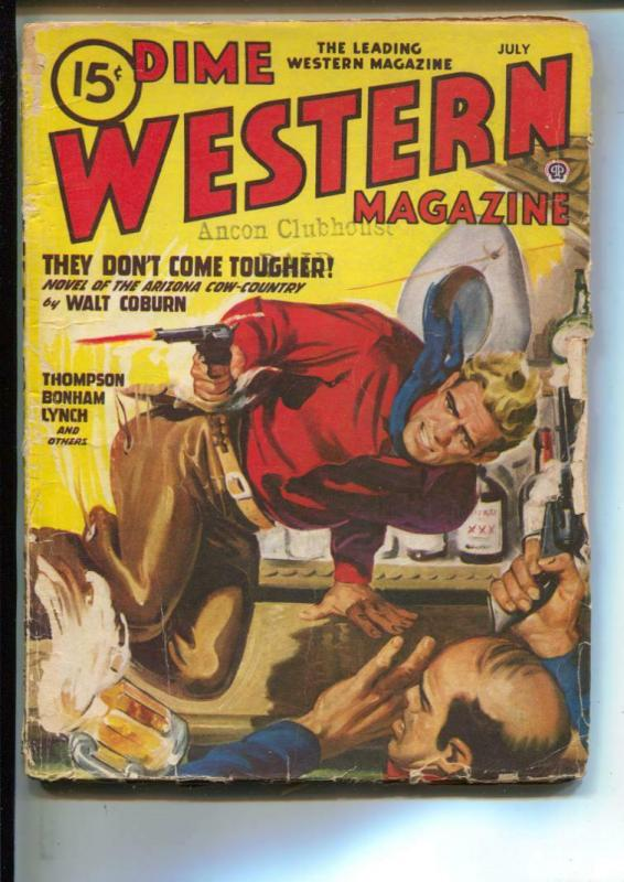 Dime Western-Pulp-7/1947-Walt Coburn-Frank Bonham