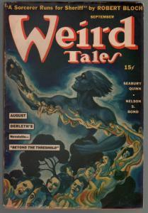Weird Tales 9/1941-Margaret Brundage-Seabury Quinn-Bloch-FN+