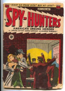 Spy-Hunters #5 1950-ACG-Trouble In Tehran- Hitler-A-bomb explosion panel-FR