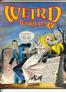Weird Worlds #4 1980-movie zombies-HP Lovecraft-Joe Kubert Art School-G