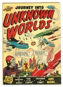 Journey Into Unknown Worlds 36 (#1)   End Of The Earth cover & story