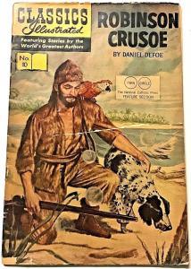 CLASSICS ILLUSTRATED#10 GD 1968 ROBINSON CRUSOE(HRN 166)