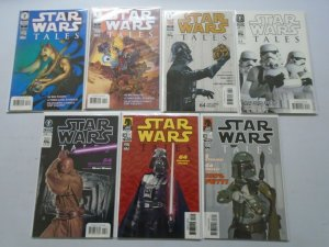 Star Wars Tales lot 7 different from #3-18 avg 8.0 VF (2000-03 Dark Horse)