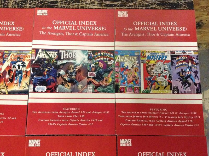 Index To The Marvel Universe Avengers Thor & Cap # 1 2 3 4-15