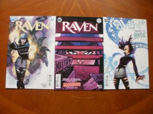 3 Near-Mint DC Comic RAVEN #2 #3 #6 (2016) Wolfman Borges Blond (White Carnival)