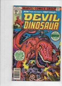 DEVIL DINOSAUR #1, VG+, Jack Kirby, Moon-Boy, T-Rex, 1978, more JK in store