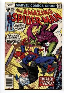 AMAZING SPIDER-MAN #179 comic book-Green Goblin-1978-SPIDEY VF+