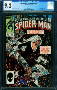 SPECTACULAR SPIDER-MAN #90-CGC GRADED 9.2 Black Costume 2009759004