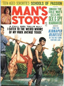 "MAN""S STORY 5/1966-VIET CONG TERROR TORTURE-CHEESECAKE-SPY--PULP THRILL"