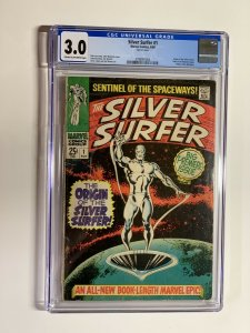 Silver surfer 1 cgc 3.0 cr/ow pages 1968