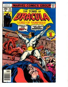 Tomb Of Dracula # 63 VF Marvel Comic Book Vampire Monster Horror Fear TD7