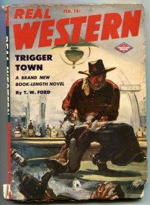 Real Western Pulp February 1944- Trigger Town- TW Ford VG/F