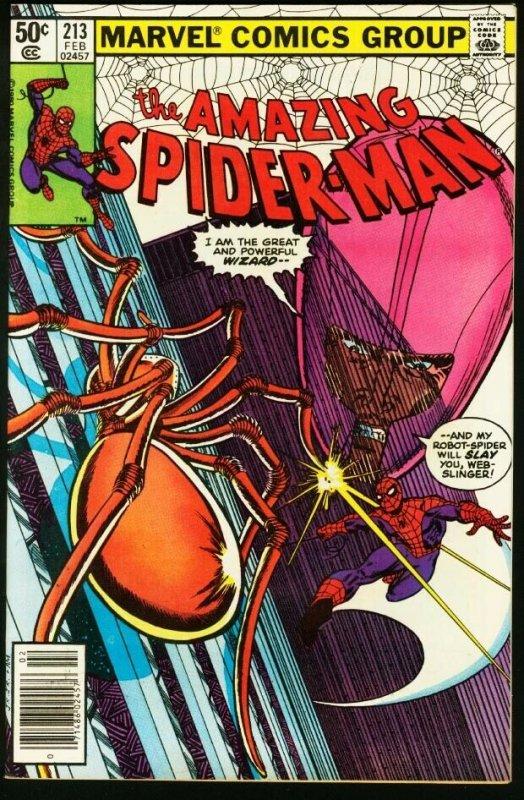 AMAZING SPIDER-MAN #213-1981-MARVEL-very fine VF
