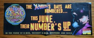 24 x 09 X-Men OPERATION ZERO TOLERANCE Promo Poster 1997 Marvel