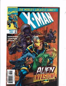 6 X-Man Marvel Comic Books #31 32 33 34 + Annual # 96' & -1 Flashback X-Men J205