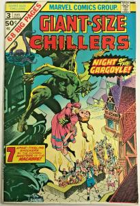 GIANT-SIZE CHILLERS#3 FN/VF 1975 MARVEL BRONZE AGE COMICS