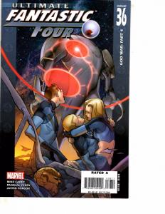 Lot Of 5 Ultimate Fantastic Four Marvel Comic Books #36 37 38 39 40 Thor   BF3