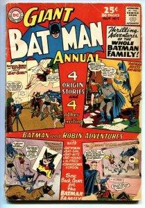 BATMAN ANNUAL #7 comic book 1964-80 PAGE GIANT-BATMAN FAMILY G