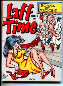 Laff Time 3/1964-Headline pubs-Pete Wyma-jokes-spicy cartoons-FN