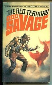 DOC SAVAGE-THE RED TERRORS-#83-ROBESON-VG/FN-BORIS VALLEJO-1ST EDITION VG/FN