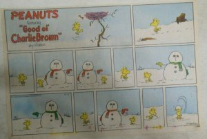 (50) Peanuts Sunday Pages by Charles Schulz from 1985 Size Most 11 x 14 inches