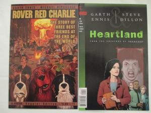 ROVER RED CHARLIE #1,5, 6 & HEARTLAND - Four Issue Comic Book Lot - Ennis