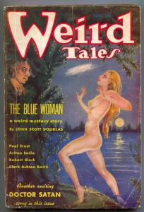 Weird Tales Pulp September 1935- Brundage cover- Doctor Satan G/VG