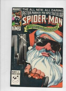 Peter Parker SPECTACULAR SPIDER-MAN #112 VF+, Santa 1976 1986 more in store