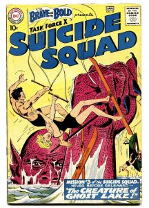 The Brave And The Bold #27 1959-SUICIDE SQUAD- Ghost Lake FN-