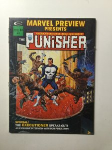 Marvel Preview Volume 1 No.2 Magazine Fine Fn 6.0 The Punisher Curtis Marvel