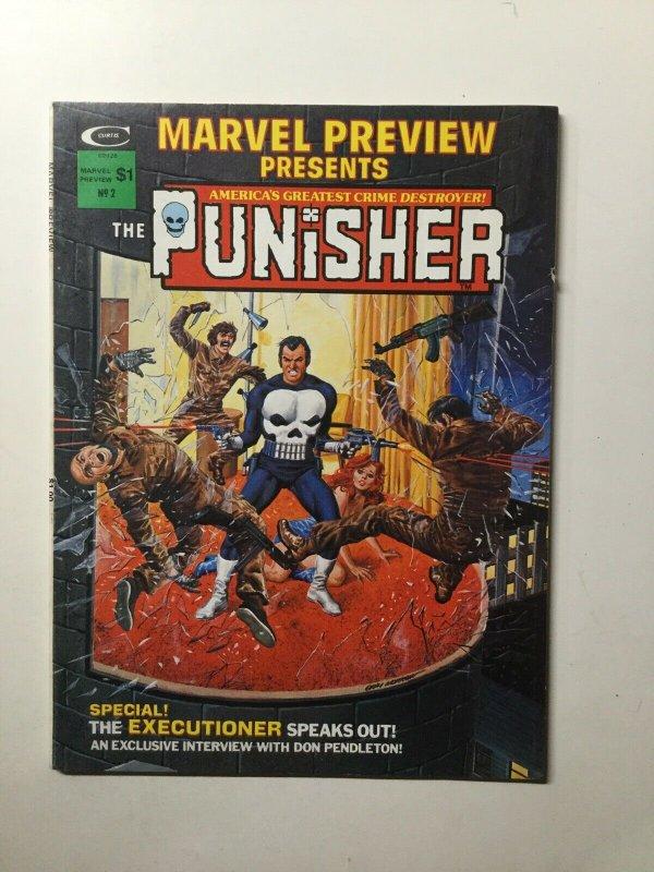 Marvel Preview Volume 1 No.2 Magazine Fine Fn 6.0 The Punisher Curtis Marvel