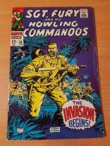 Sgt. Fury #50 ~ FINE FN ~ (1968, Marvel Comics)