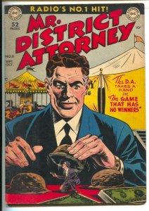 Mr. District Attorney #11 1949-DC-Pre-code crime--Carnival Con Games-FN-