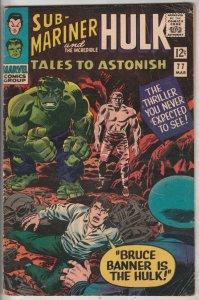 Tales to Astonish #77 (Mar-66) FN Mid-Grade Incredible Hulk, Namor the Sub-Ma...
