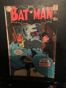 Batman #217 (1969) Mid-grade last Bat Cave key! VG/FN Wow!
