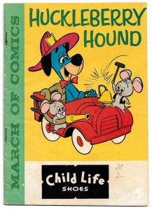 Huckleberry Hound in March of Comics #199 * 1960 * Premium from Child Life Shoes