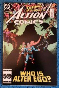 Action Comics #570 (DC, 1985) NM- 9.2 Superman Who Is Alter Ego?